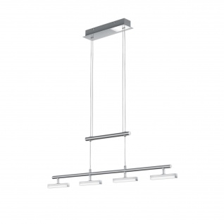 LED Pendelleuchte Höhenverstellbar Metall Silber 4 x LED je 4, 5W/230V 1720lm