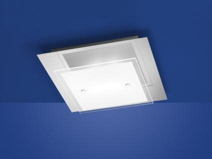 Deutsche LED Deckenleuchte Chrom 1500 Lumen Dimmbar 30 x 30cm