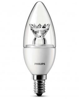 Philips LED Kerze 3W Leuchtmittel Klar Kerzenlampe Lampe E14 warmweiß Birne