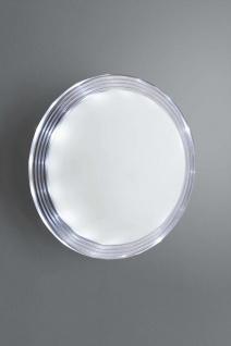 Wandaußenleuchte Rund Weiß Klar Halogen G9 max. 40W Ø26cm LED tauglich