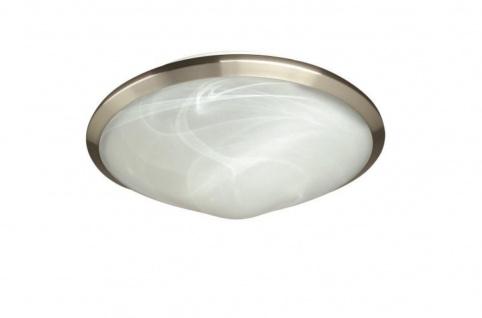 Deckenleuchte 2 Flammig Silber Glas Ø 31cm