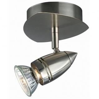 Halogen Strahler Deckenspot Stahl gebürstet Schwenkbar Metall