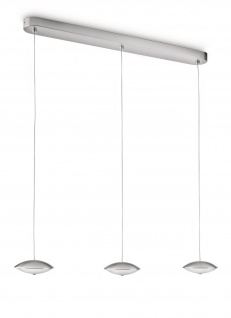 Philips myLiving LED Pendelleuchte 6-flg. Silber Dimmbar Glas