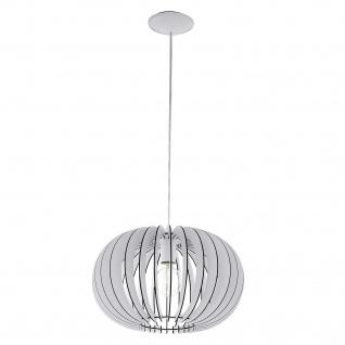 Deckenleuchte Holz Weiss Silber LED tauglich Ø 40cm Höhe 25,5cm