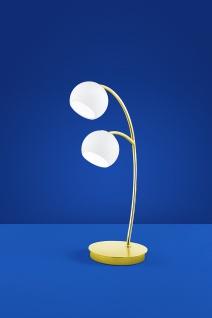 Deutsche LED Tischleuchte 2 flammig Messing Glas Schalter 950 Lumen