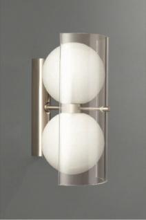Halogen Wandleuchte Silber 2 Flammig Glas Wandlampe