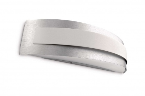 Energiespar Wandleuchte Aluminium gebürstet mit Leuchtmittel 1x E27 bis 23W 40cm - Vorschau 2