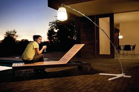 Philips Ecomoods Energiespar-Wegeleuchte inklusiv Energiespar Leuchtmittel, Neuartige Außenleuchtenform für die Beleuchtung von Garten und Terrassenflächen, inklusiv 5 Farbfilter für farbiges Licht 169203116