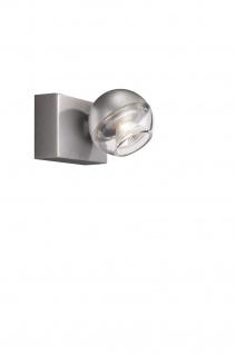 Halogen 1 flammig Spot Perla Deckenleuchte Aluminium Glas Wandleuchte Schalter