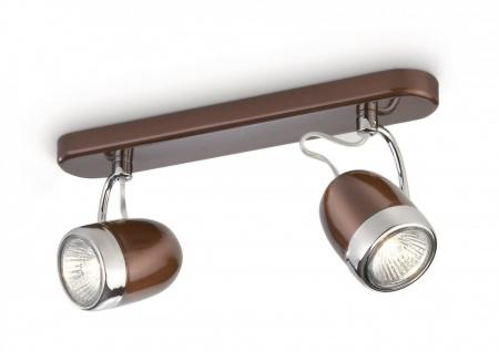 Philips Deckenspot myLiving 2er Spot Braun Strahler Modern 56482-43-16