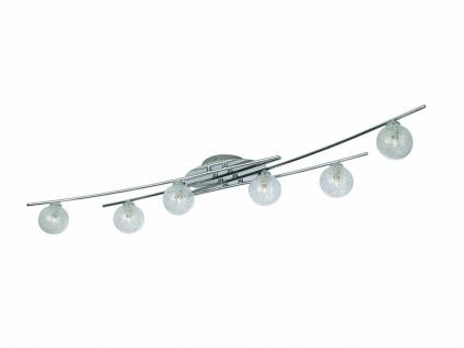 Deckenleuchte Coppi Modern Kugel Leuchte Deckenlampe Chrom Glas 40799-11-10