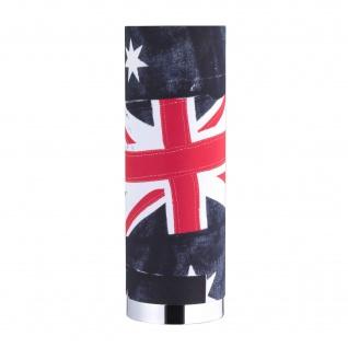 Tischleuchte Banner Fahne Flagge Dekor Tischlampe Chrom Stoffschirm