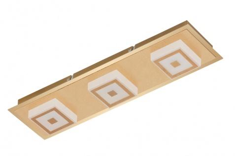 LED Wandleuchte Deckenleuchte 3 Flammig Gold Metall 1200lm Warmweiß 44 x 12x 5, 4cm
