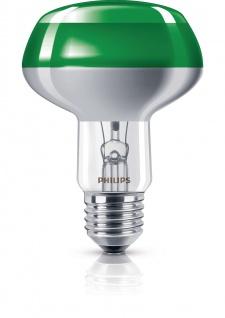Philips Leuchtmittel Reflektorform E27 Reflektor 60W Grün Glühlampe Partylight