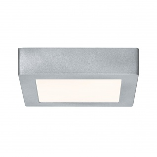 Eckige LED Deckenleuchte Panel Chrom Matt 17x17cm 1230lm Alu