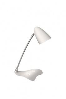 Massive Schreibtischleuchte Axel 1x GU10 Energiespar Weiß Bürolampe mit Schalter