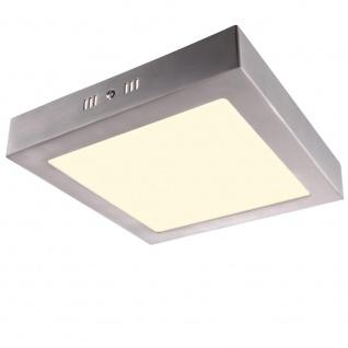 Kleine LED Deckenleuchte 3000K 800lm 17x17cm Quadratisch