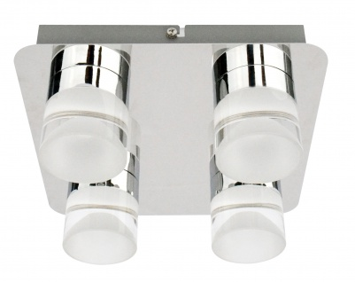 LED Deckenleuchte chrom 4 x 5W 3000K 1436lm
