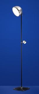 Deutsche LED Stehleuchte Schwarz Chrom 2 Flammig Industriedesign 190cm