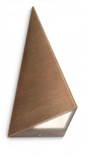 Philips LED Wandaußenleuchte Hills Pyramidenform Aussenleuchte Bronze - Vorschau 2