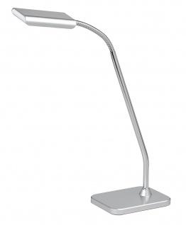 Schreibtischleuchte Pala LED Verstellbar Silber Chrom Bürotischleuchte Schalter