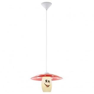 Eglo Kinderzimmerleuchte Fliegenpilz E27 Ø 36cm Rot Weiß LED tauglich