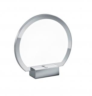 Deutsche LED Tischleuchte Dimmbar 1100lm Chrom Tastdimmer D. 24cm