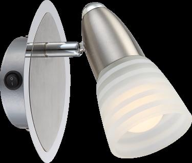 Globo LED Spot 1 x E14 4W/230V Glas Chrom Nickel Matt Schwenkbar 14, 5x9x13, 5cm