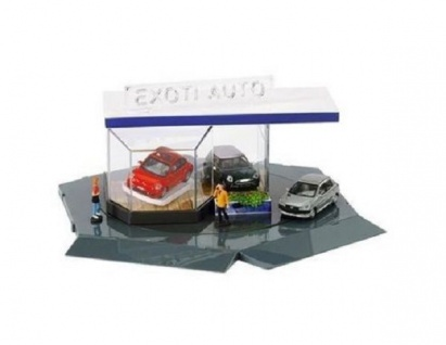 Schuco Junior Line Set Showroom inkl. 3 Autos 1:72