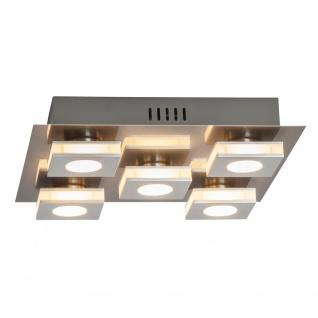 LED Deckenleuchte 5x4W/230V Metall Glas Silber 1600lm Warmweiß 30x30x7cm