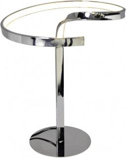 LED Tischleuchte Metall Chrom 12W Höhe 38cm 3000K 672lm Ø27cm
