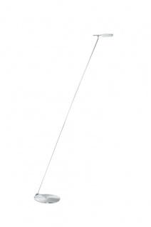 Deutsche Standleuchte Power LED neutralweiss Nickel matt / Chrom 137cm