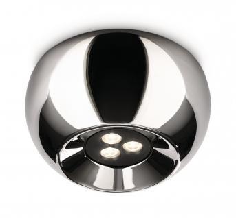 Philips Ledino Deckenleuchte Nio Chrom LED Design Deckenlampe Leuchte 31610-11-16
