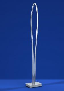 Deutsche LED Stehleuchte 25W Nickel Chrom Fußdimmer 2400lm Warmweiß 130cm