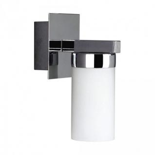Massive Badleuchte Wandleuchte 1x E14 für LED geeignet Chrom Opalglas Milchglas
