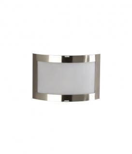 Wandleuchte Modern Stahl gebürstet Glas Silber Wandlampe