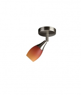 Halogen Wand-/Deckenleuchte Strahlerspot G9 Silber Metall Glas lackiert 8x8x8cm