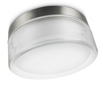Philips Energiespar Wandaussenleuchte Edelstahl Glas Ø 25, 7cm