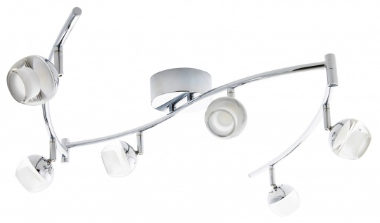 LED Spotleiste Deckenleuchte 6 x 5W Chrom Wohnraumleuchte Spot