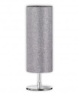 Honsel Tischleuchte Fun Stoff Grau Schalter Tischlampe LED tauglich
