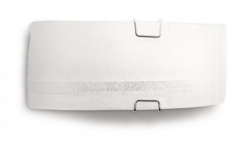 Wandleuchte Glas Weiß 30cm Dekorglas