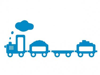 Philips Kinderzimmerleuchte Wandlampe Blau 15W Schalter Aufkleber Zug Train - Vorschau 3