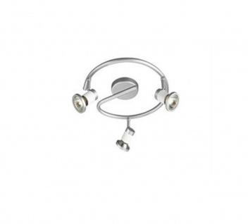 Halogen Deckenspot Massive Udo Spirale 3x GU10 50W Silber verstellbar Lampe