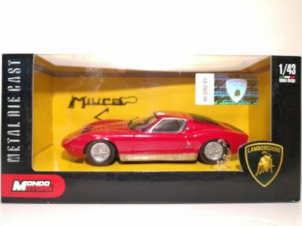 1:43 Lamborghini Miura rot - Mondo Motors