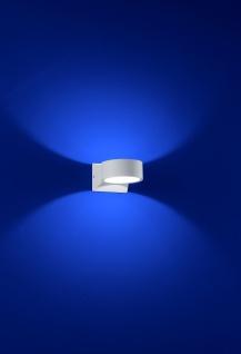 Deutsche LED Wandaussenleuchte Weiss Rund Ø9cm IP54
