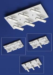Deutsche LED Deckenleuchte Nickel matt mit Chrom 3700 Lumen Dimmbar
