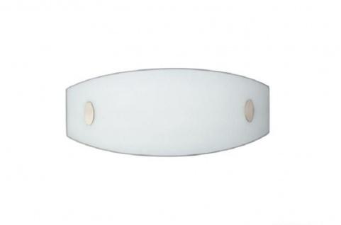 Wandleuchte Sandra Energiespar Leuchte Wandlampe Weiss Lampe Glas Oval