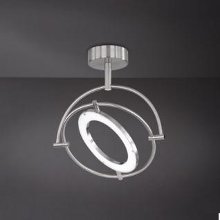 Wofi LED Deckenleuchte Monza 1 flammig Schwenkbar Deckenlampe Nickel Matt - Vorschau 2