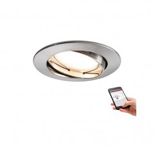 Smart Home Einbauleuchte 3er Set IP23 Dimmbar LED Silber Schwenkbar