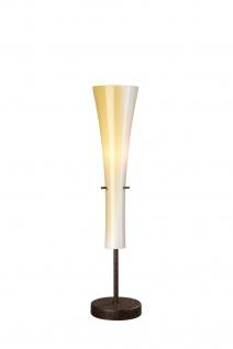 Tischleuchte Rustikal Landhausstil Halogen Glas Handmade Braun